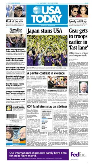 07/18/2011 Issue of USA TODAY