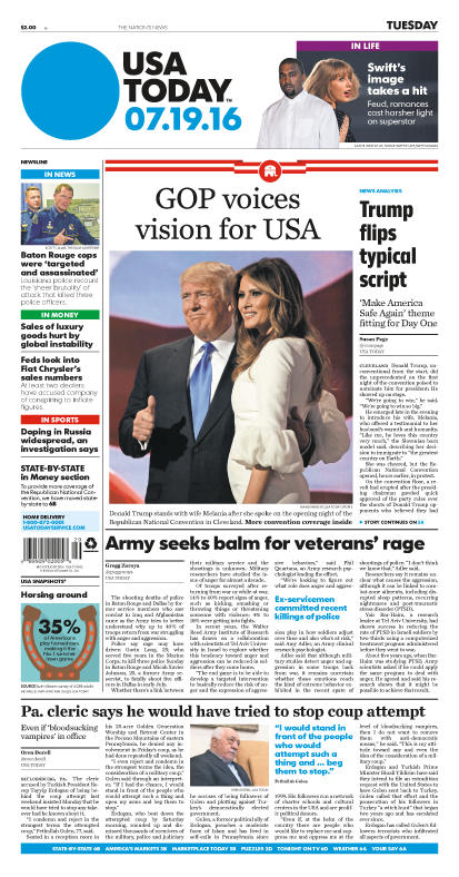 07/19/2016 Issue of USA TODAY