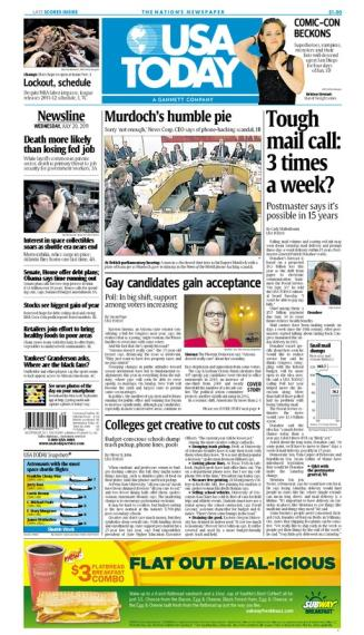 07/20/2011 Issue of USA TODAY