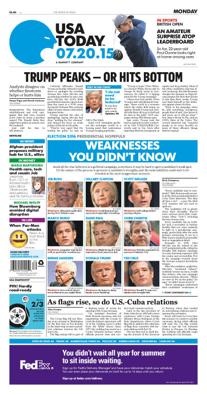07/20/2015 Issue of USA TODAY