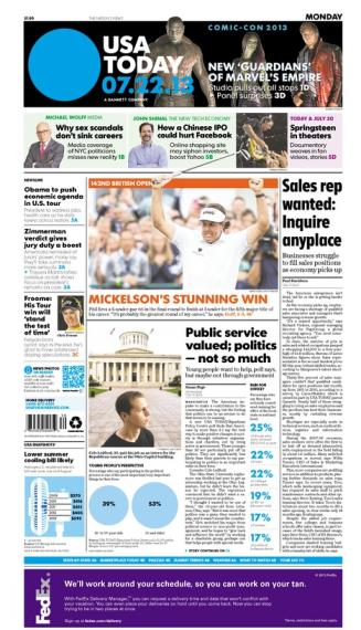 07/22/2013 Issue of USA TODAY