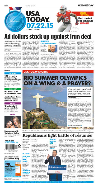 07/22/2015 Issue of USA TODAY