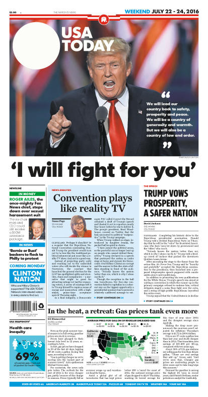 07/22/2016 Issue of USA TODAY