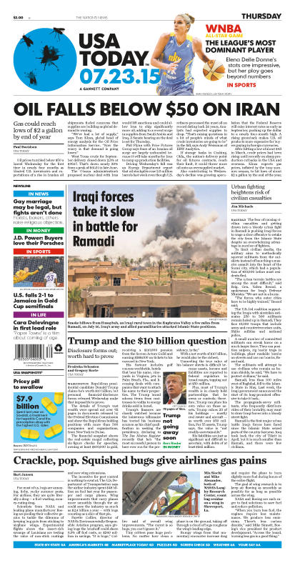07/23/2015 Issue of USA TODAY