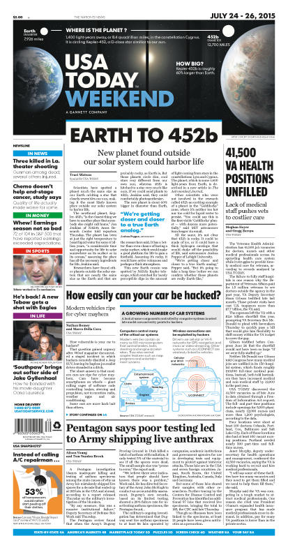 07/24/2015 Issue of USA TODAY
