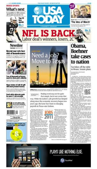 07/26/2011 Issue of USA TODAY
