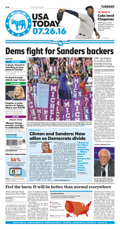 07/26/2016 Issue of USA TODAY
