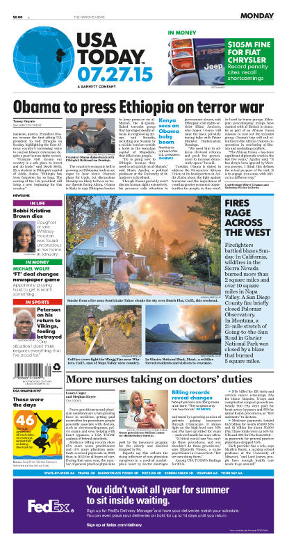 07/27/2015 Issue of USA TODAY