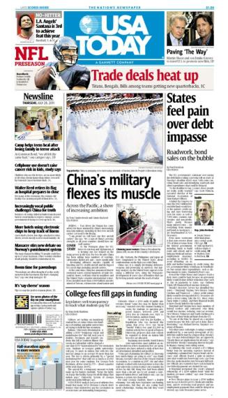 07/28/2011 Issue of USA TODAY