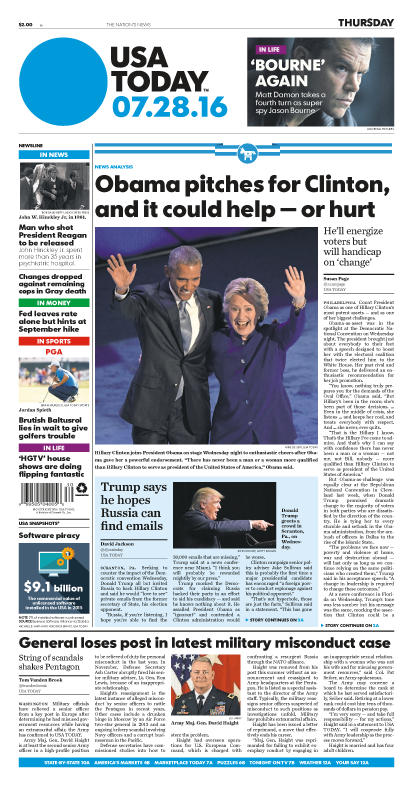 07/28/2016 Issue of USA TODAY