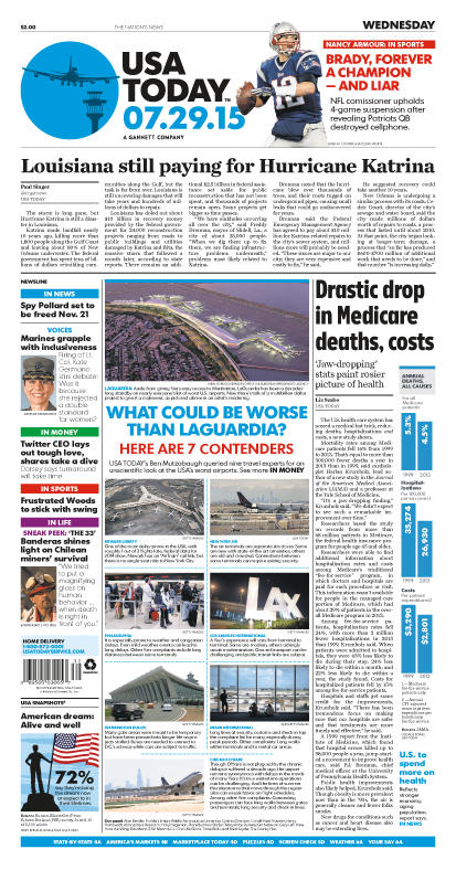 07/29/2015 Issue of USA TODAY