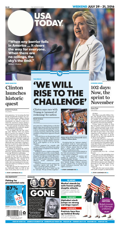 07/29/2016 Issue of USA TODAY