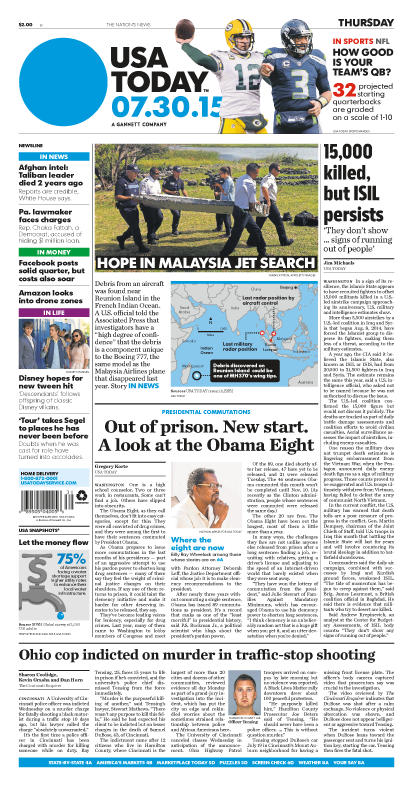 07/30/2015 Issue of USA TODAY
