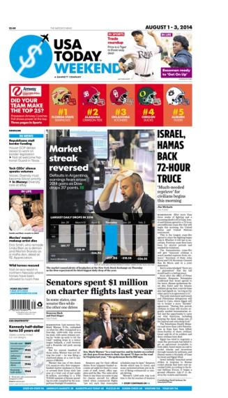 08/01/2014 Issue of USA TODAY