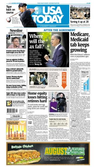 08/03/2011 Issue of USA TODAY