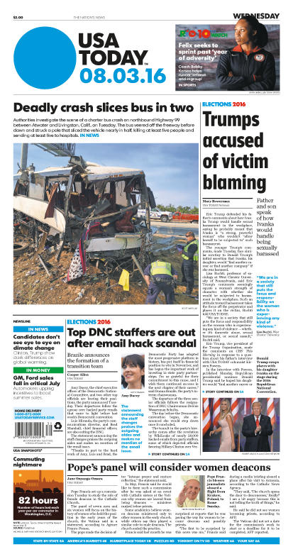 08/03/2016 Issue of USA TODAY MAIN