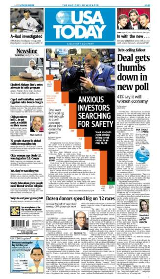 08/04/2011 Issue of USA TODAY