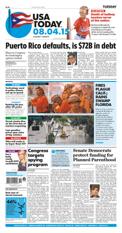 08/03/2015 Issue of USA TODAY