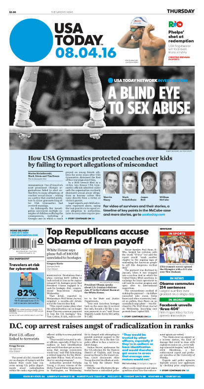 08/04/2016 Issue of USA TODAY