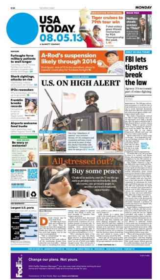 08/05/2013 Issue of USA TODAY