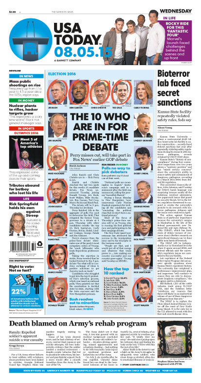 08/05/2015 Issue of USA TODAY