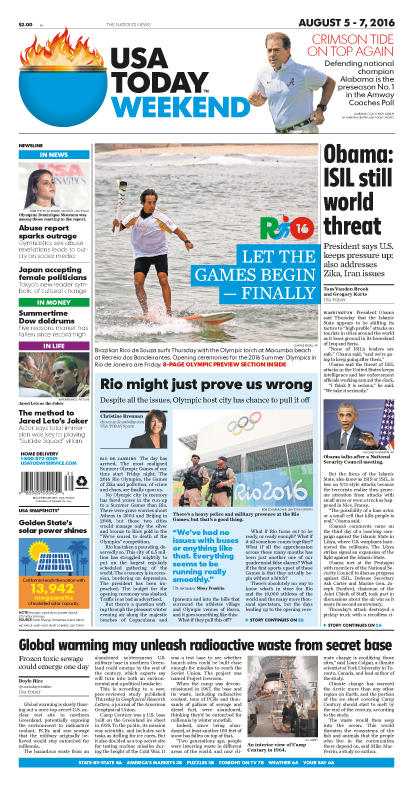 08/05/2016 Issue of USA TODAY