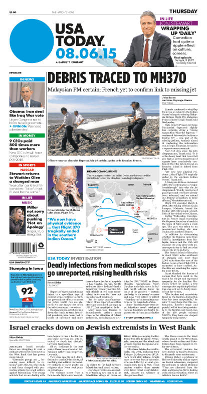 08/06/2015 Issue of USA TODAY