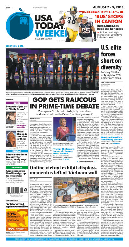 08/07/2015 Issue of USA TODAY