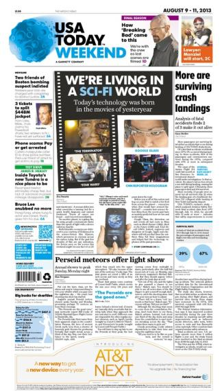08/09/2013 Issue of USA TODAY