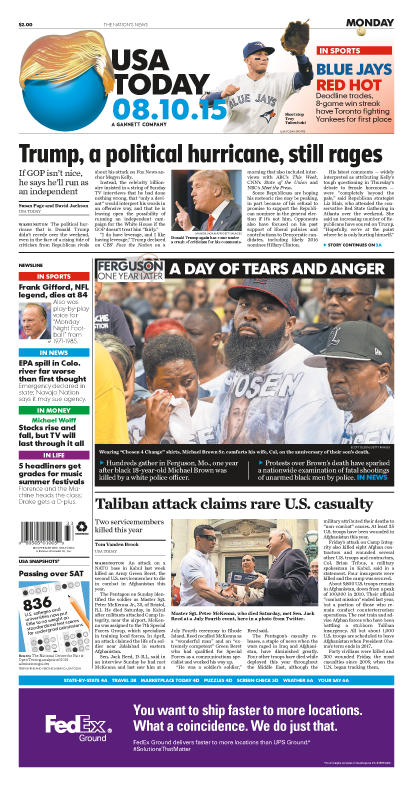 08/10/2015 Issue of USA TODAY