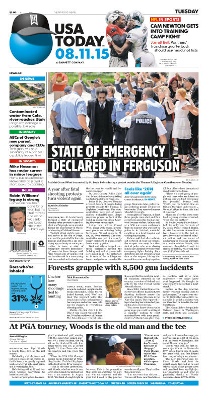 08/11/2015 Issue of USA TODAY