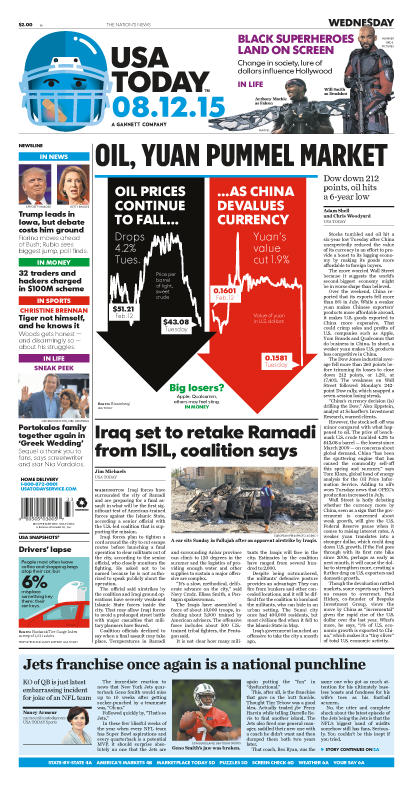08/12/2015 Issue of USA TODAY