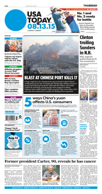 08/13/2015 Issue of USA TODAY