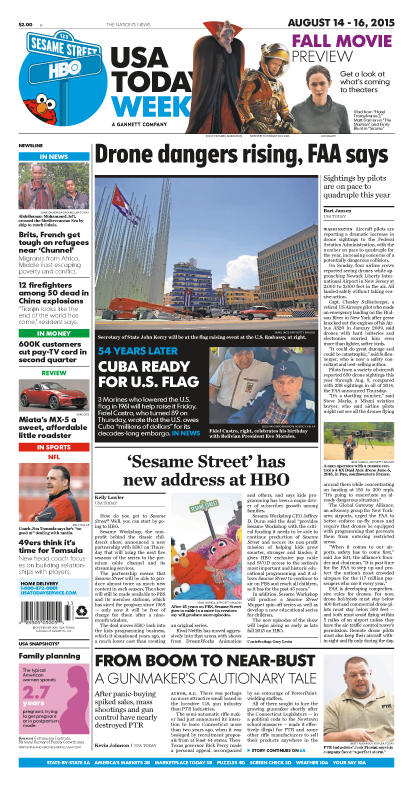 08/14/2015 Issue of USA TODAY