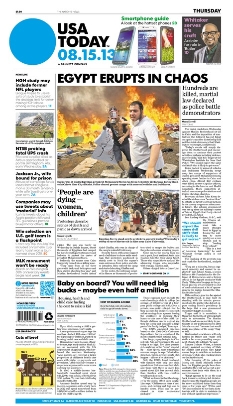08/15/2013 Issue of USA TODAY