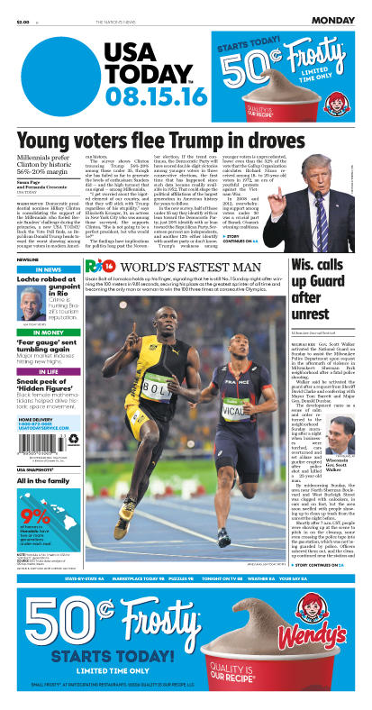 08/15/2016 Issue of USA TODAY
