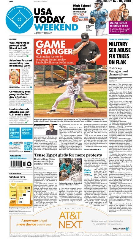 08/16/2013 Issue of USA TODAY