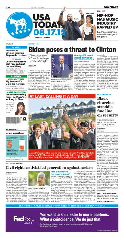 08/17/2015 Issue of USA TODAY