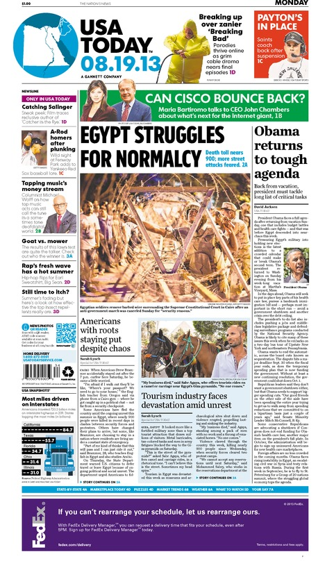 08/19/2013 Issue of USA TODAY