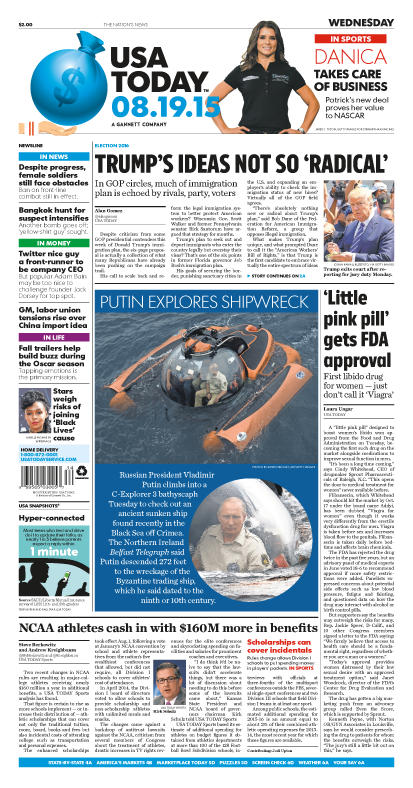 08/19/2015 Issue of USA TODAY