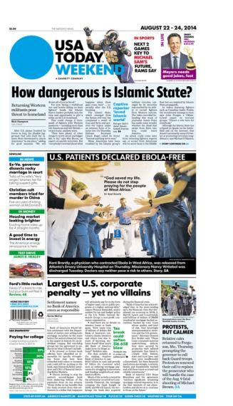 08/22/2014 Issue of USA TODAY