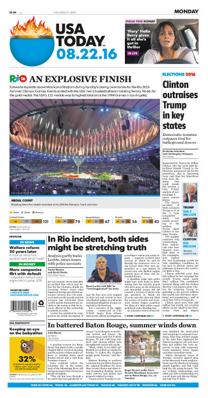 08/22/2016 Issue of USA TODAY