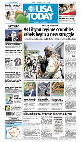 08/23/2011 Issue of USA TODAY
