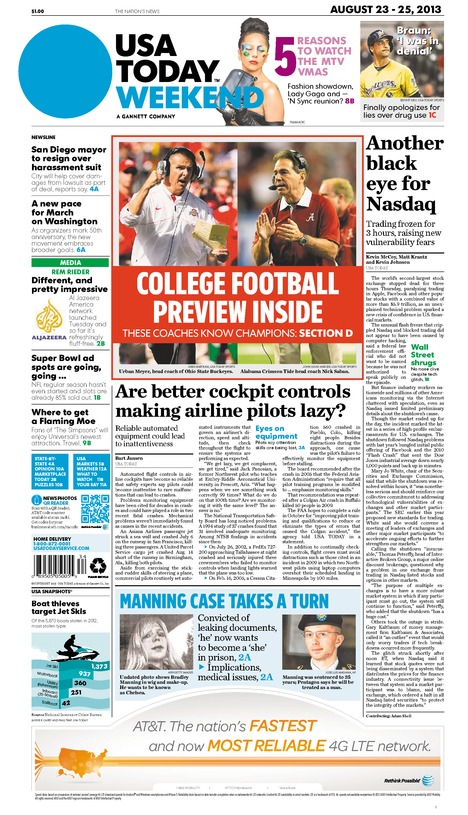 08/23/2013 Issue of USA TODAY
