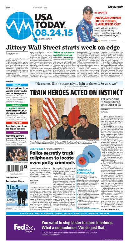 08/24/2015 Issue of USA TODAY