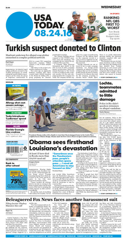 08/24/2016 Issue of USA TODAY