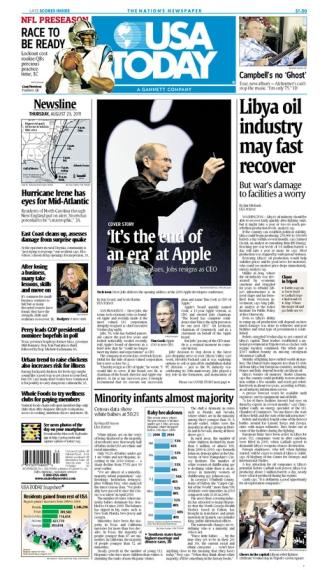 08/25/2011 Issue of USA TODAY