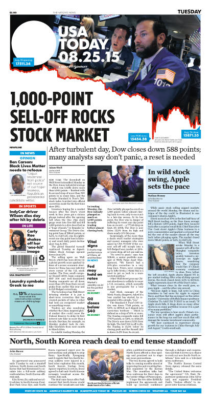 08/25/2015 Issue of USA TODAY