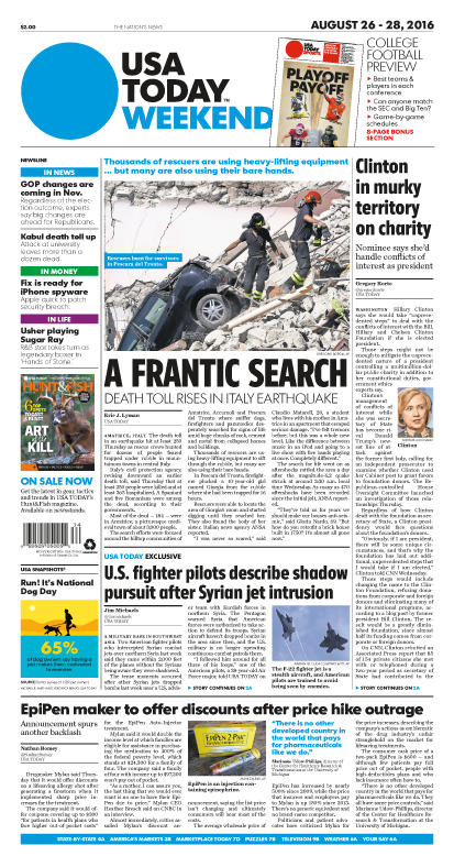 08/26/2016 Issue of USA TODAY MAIN