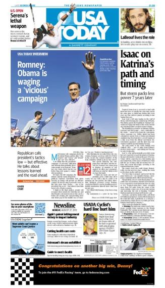 08/27/2012 Issue of USA TODAY